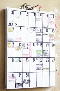 calendário familiar
